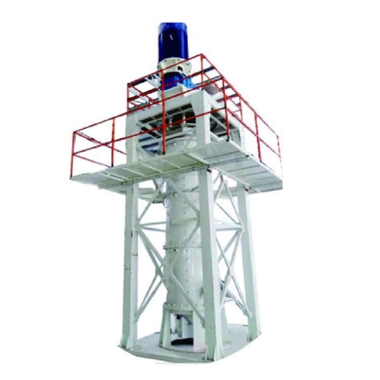 Vertical wet stirring mill